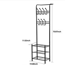 Metal Hat and Coat Bags Clothes Cloth Shoe Rack Stand Shelf Garment Hang... - $76.00