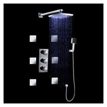 LED Wall Mount Thermostatic Shower Faucet with BodySprays - $663.25