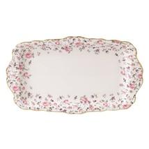 Royal Albert Rose Confetti Vintage Formal Rectangular Serving Tray NEW I... - $46.74