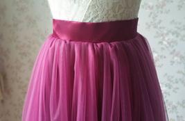 Full Tulle Maxi Skirt Plus Size Floor Long Tulle Skirt Wedding Guest Maxi Skirts image 4