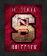 "North Carolina State Wolfpack ""Retro College Logo Map"" 13x16 Framed Print  - $39.95"