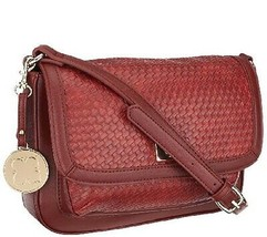 Liz Claiborne New York A256690 Red Faux Leather Turn Lock Shoulder Bag - $49.00