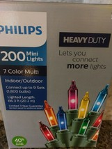 Philips 200 Count Heavy Duty Christmas Multi Color Mini String Lights Party - $22.76