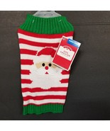 Simply She Pet Christmas Stripped Santa Puppy Dog Costume Sweater Coat s... - $14.50