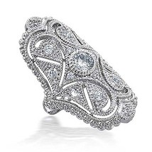 Bling Jewelry Great Gatsby Inspired CZ Vintage Style Full Finger Armor R... - $26.30