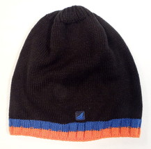 Sperry Top Sider Black Knit Beanie Skull Cap Adult One Size NWT - $22.27