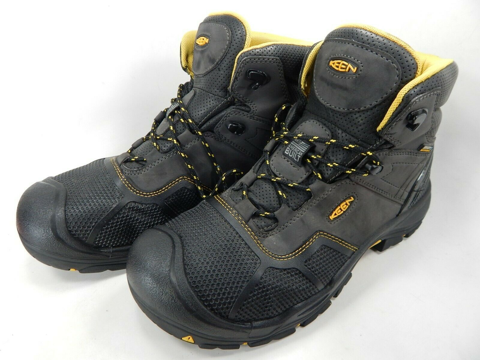 Keen Logandale Size 13 M (D) EU 47 Men's WP Steel Toe Work Boots Black 1017828