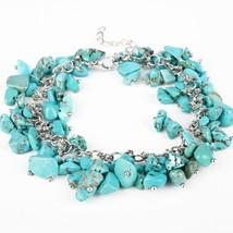 Rm bracelet unique small natural stones turquoises bracelets handmade boho jewelry gift thumb200