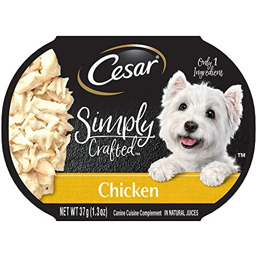 Cesar Simply Crafted Adult Wet Dog Food Cuisine Complement, Chicken, Pack Of 10