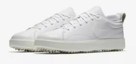 Nike Course Classic Spikeless Golf Shoes White Leather 905232-100 Mens S... - $79.20
