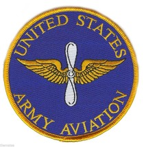 "UNITED STATES ARMY AVIATION  4"" EMBROIDERED MILITARY BRANCH PATCH - $23.74"