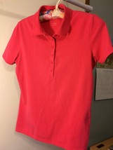 SHIRT TALBOT Fashion Pink Polo Top Blouse Button Casual Sport Women Size Small S - $8.41