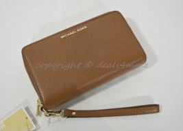 NWT Michael Kors Adele Large Flat Phone Leather Wallet/Wristlet in Lugga... - £117.16 GBP