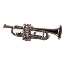 Trumpet Music Instrument Metal Enamel Badge Lapel /tie Pin Badge 3d effect