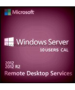 Microsoft Windows Server 2012 R2 Remote Desktop Services 10 Users CAL 64 bit KEY - $31.99