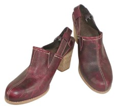 Timberland Earthkeepers Anti-Fatigue Sling Back Mule Booties Maroon sz 9.5 - $25.24