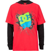 DC Shoes 2Fer Super Boys Hooded Tee Size Large Brand New - $23.50