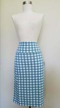 LuLaRoe S Cassie Skirt Plaid Teal White NWT - $16.82