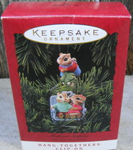 "1994 Hallmark Keepsake Clip-On Ornament Set ""Mistletoe Surprise"" Set Of 2 W/xtr - $20.00"