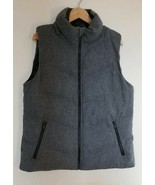 Gap Primaloft Size Large Gray Wool Vest Insulated Zipper Women's Outwear Clothes - $20.95