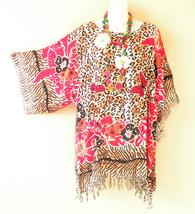 KB659 Butterfly Free Size Kaftan Poncho Kimono Tunic Blouse Top - M L, X... - $24.65