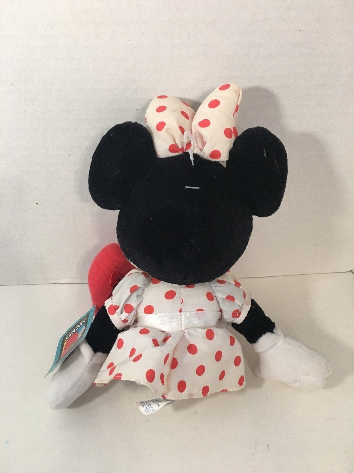 Applause Disney Minnie Mouse vintage plush white dress red dots mickey friend