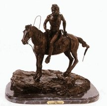 Artistic Solutions Vigil 100% Bronze Statue American Handmade Sculpture ... - $338.10