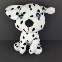 Goffa International Plush Dalmatian Stuffed Spot Dog Puppy Glitter Eyes ... - $10.88