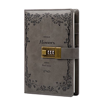 Lock Diary Leather Locking Journal Writing Notebook Vintage Lock Planner... - $23.73