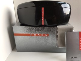 PRADA SPORT Eyeglasses Sunglasses Black Hardshell Case w/new original pa... - $21.84