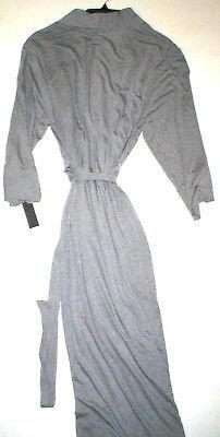 NWT $180 New Natori Gray Robe Womens Long Very Soft Solid XXL Pockets Heathered image 6