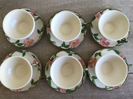 Set 6 Franciscan Desert Rose Tea Cups and Saucers Made in USA image 2