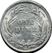 1916S Silver Barber Dime 10¢ Coin Lot# A 250 image 2