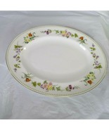 Wedgwood Mirabelle Bone China Oval Platter R4537 Floral 14 x 11 Inch Gol... - $39.59