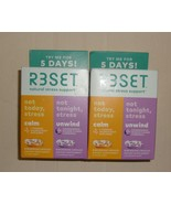 Reset Natural  Stress Support Day & Night Capsules Lot of 2 Boxes Exp 03/22 - $12.86