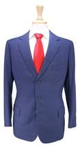 * LESLEY & ROBERTS * London Bespoke Dark Blue 3-Btn Handmade Wool Suit 40R - $455.00