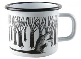 Moomin Enamel Mug VINTAGE Groke White 2,5 dl *NEW - $19.79