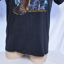VTG 1988 Harley Davidson 3d Emblem T Shirt Eagle Soars Alone 50/50 Biker 80s XL image 8