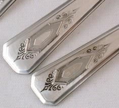 6 Oneida Wm A Rogers A1 Plus Nuart Iced Tea Spoons Silverplate Deco - $12.00