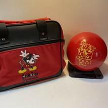Brunswick Mickey Mouse Disney Cosmic Bowling Ball & Bag Disneyana 6.75lb... - $49.50