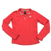 THE NORTH FACE Womens 1/4 Zip Polo Fleece Long Sleeve Coral Sweater Size XS - $23.53