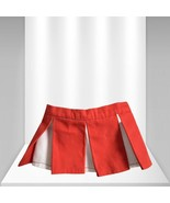 Build A Bear Cheerer Mini Skirt Red and White - $8.91