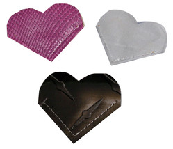 Heart Bookmark Vinyl Clear Sugar Plum Black Diamond Set of 3 Corner Book... - $5.00