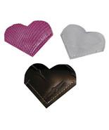 Heart Bookmark Vinyl Clear Sugar Plum Black Diamond Set of 3 Corner Book... - $5.00