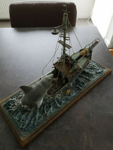Extremely Rare! JAWS Attacking the Boat Big Diorama Figurine Statue - $579.15