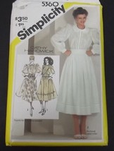 Simplicity Pattern 5360 Vintage Uncut Size 10 Miss With Instructions Vin... - $8.99