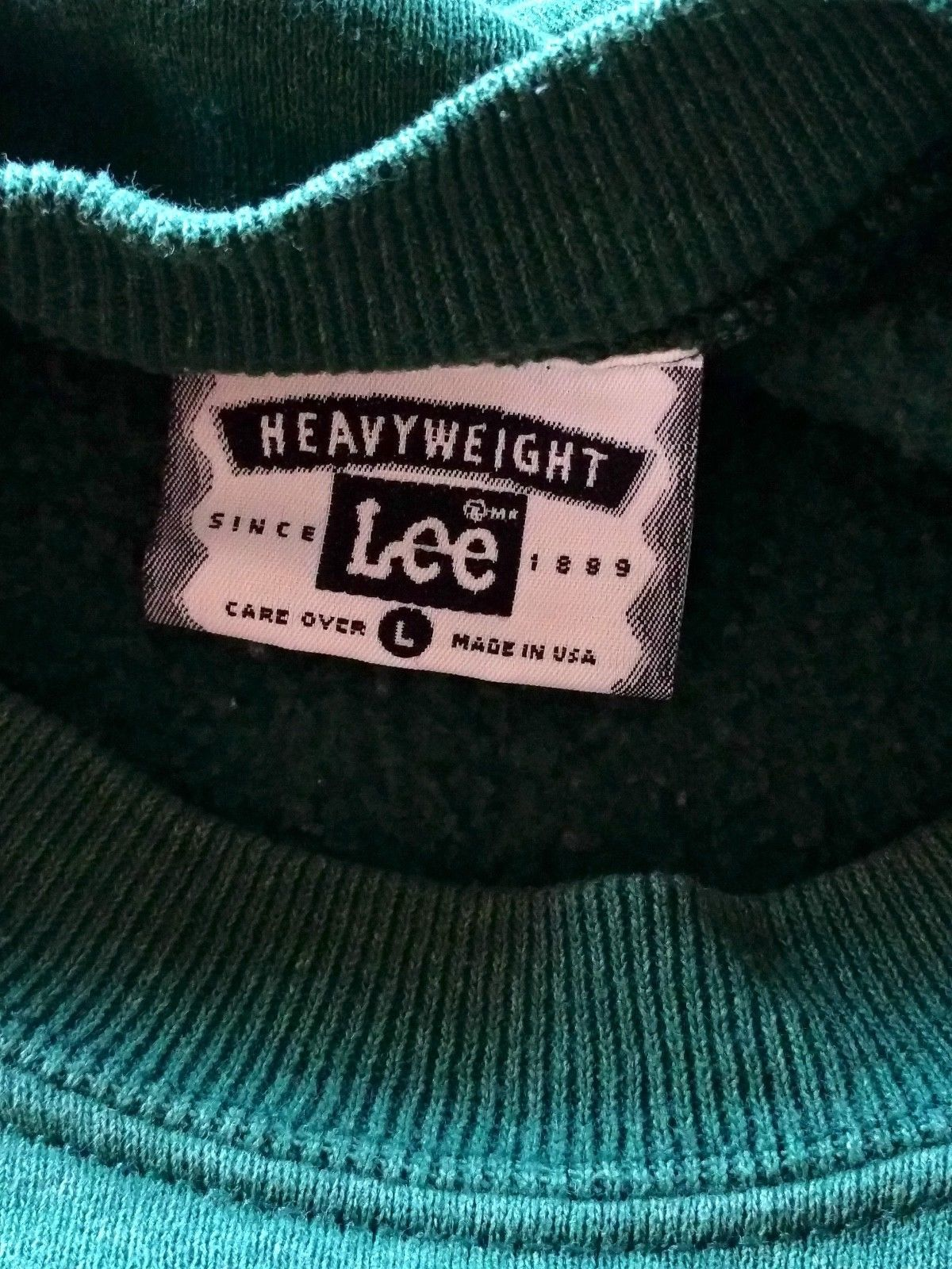Vintage LEE Made in USA TRADERS L Southern California Cars Sweatshirt Mens Green image 7