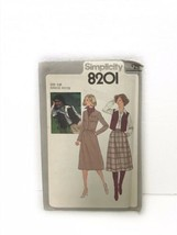 Simplicity 8201 Misses & Junior Petites Skirt Unlined Jacket Vest Sewing... - $9.89