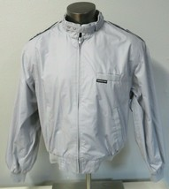Vintage Members Only Gray Bomber Racer Jacket Size 44 Cafe Motorcycle Hi... - $39.59