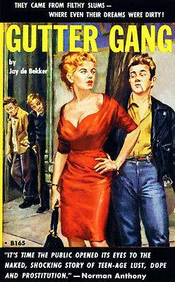 Primary image for Gutter Gang - 1954 - Pulp Novel Cover Poster